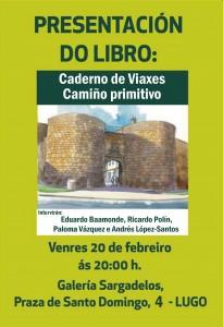 CARTEL  PRESENTACIÓN CADERNO DE VIAXE CAMIÑO PRIMITIVO